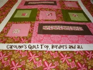 Caroline's Quilt top