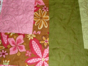 a section all quilted