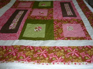 quilted, bound but not washed